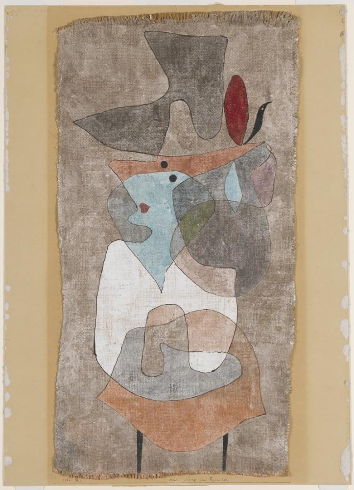 Paul Klee Bayan Şapkası Ve Küçük Masa, Kanvas Tablo, Paul Klee, PK159
