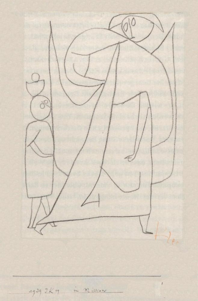 Paul Klee Görevde, Kanvas Tablo, Paul Klee, PK174