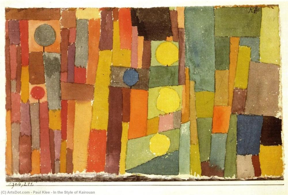 Paul Klee Kairouan Tarzında, Kanvas Tablo, Paul Klee, PK185
