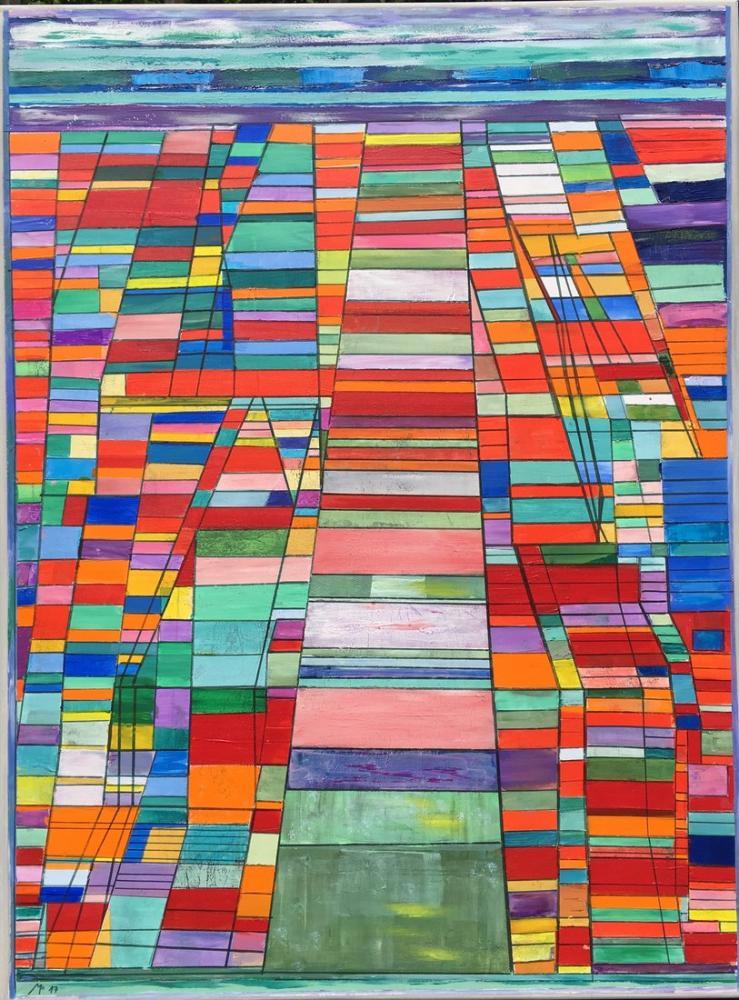 Paul Klee Ana Yol Ve Dolaşık Yol, Kanvas Tablo, Paul Klee, kanvas tablo, canvas print sales