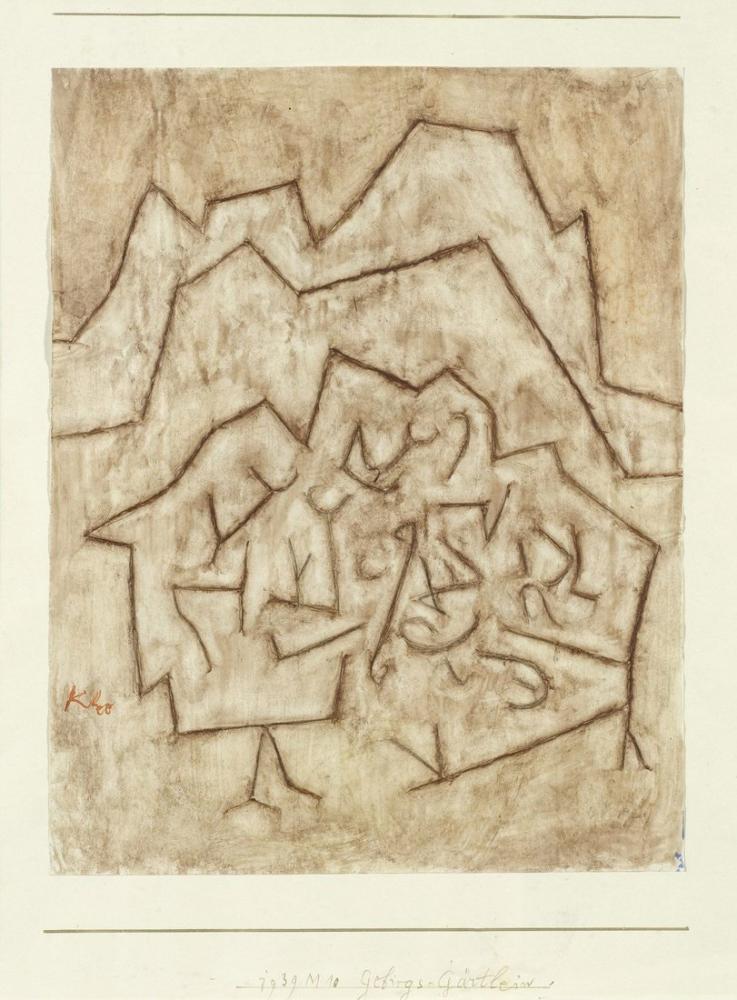 Paul Klee Dağ Bahçesi, Kanvas Tablo, Paul Klee, kanvas tablo, canvas print sales
