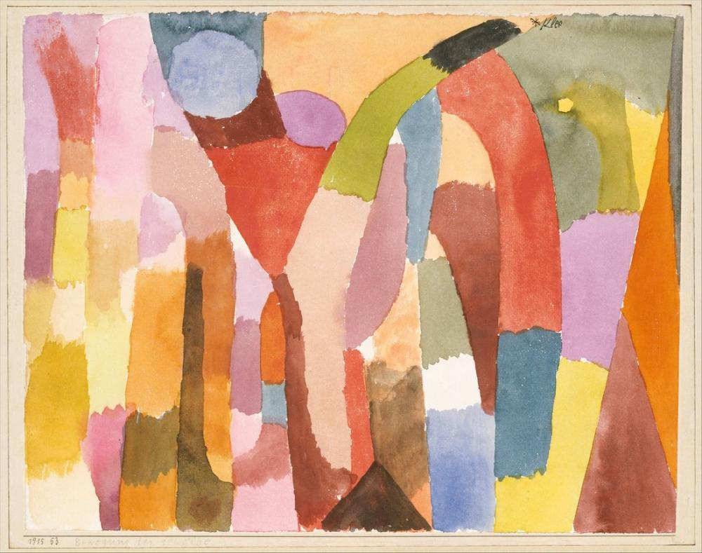 Paul Klee Kubbeli Odaların Hareketi, Kanvas Tablo, Paul Klee, kanvas tablo, canvas print sales