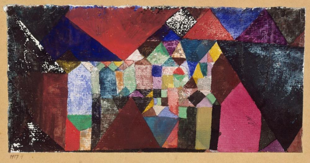 Paul Klee Belediye Mücevheri, Kanvas Tablo, Paul Klee, PK225