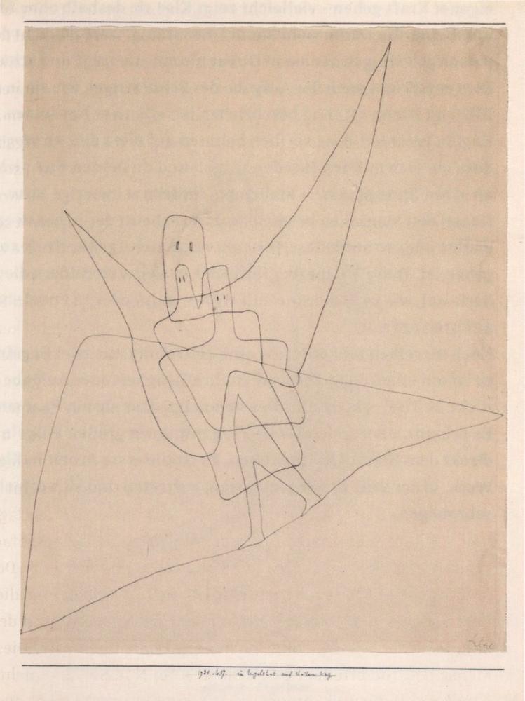 Paul Klee Angel Hat On Steep Path, Canvas, Paul Klee, kanvas tablo, canvas print sales