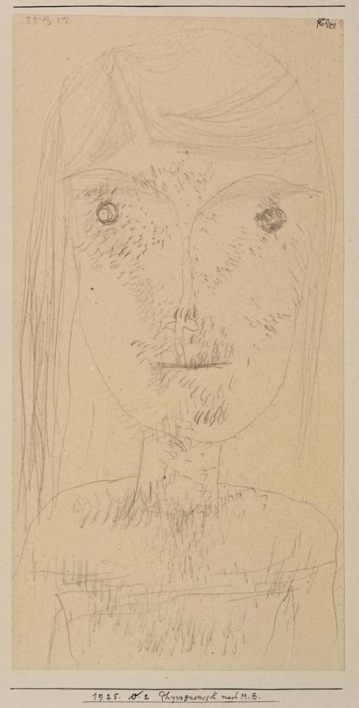 Paul Klee Fizyonomi Sonrası, Figür, Paul Klee, kanvas tablo, canvas print sales