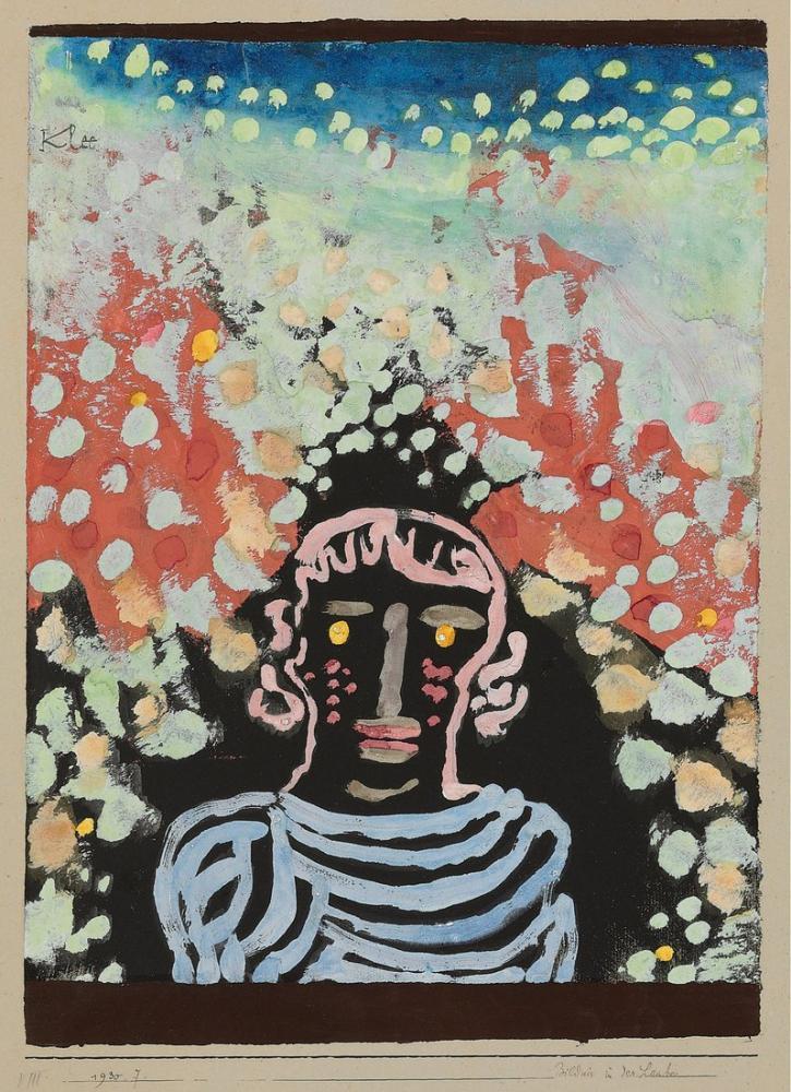 Paul Klee Çardak İçinde Portre, Figür, Paul Klee, kanvas tablo, canvas print sales