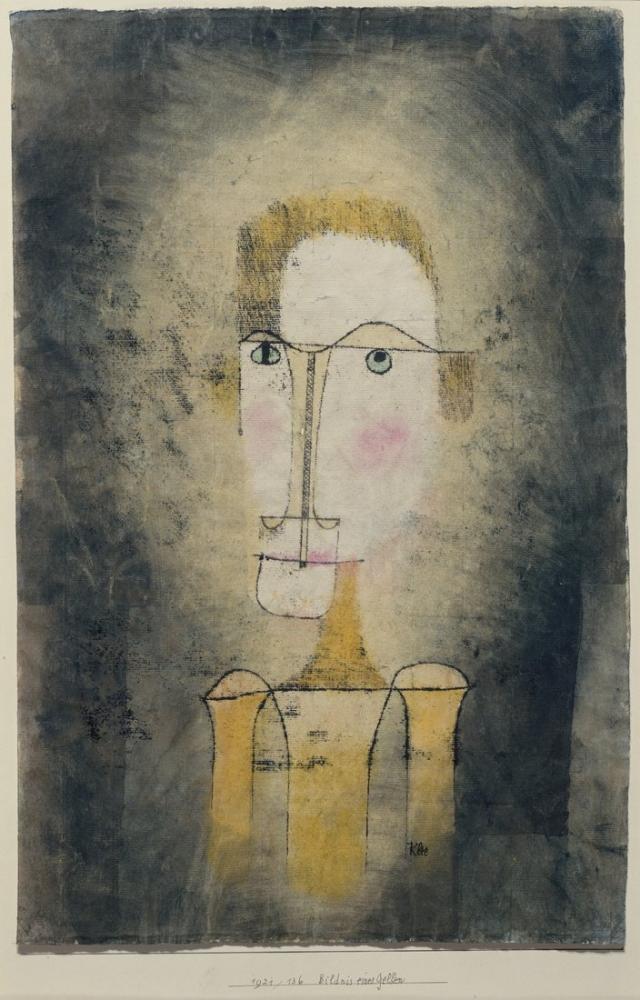 Paul Klee Sarı Bir Adam Portresi, Figür, Paul Klee, kanvas tablo, canvas print sales