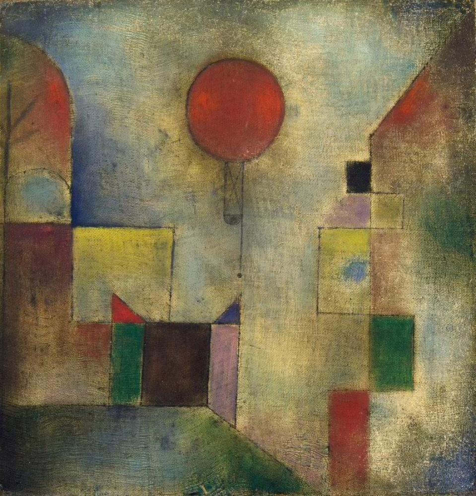 Paul Klee Kırmızı Balon, Kanvas Tablo, Paul Klee, kanvas tablo, canvas print sales