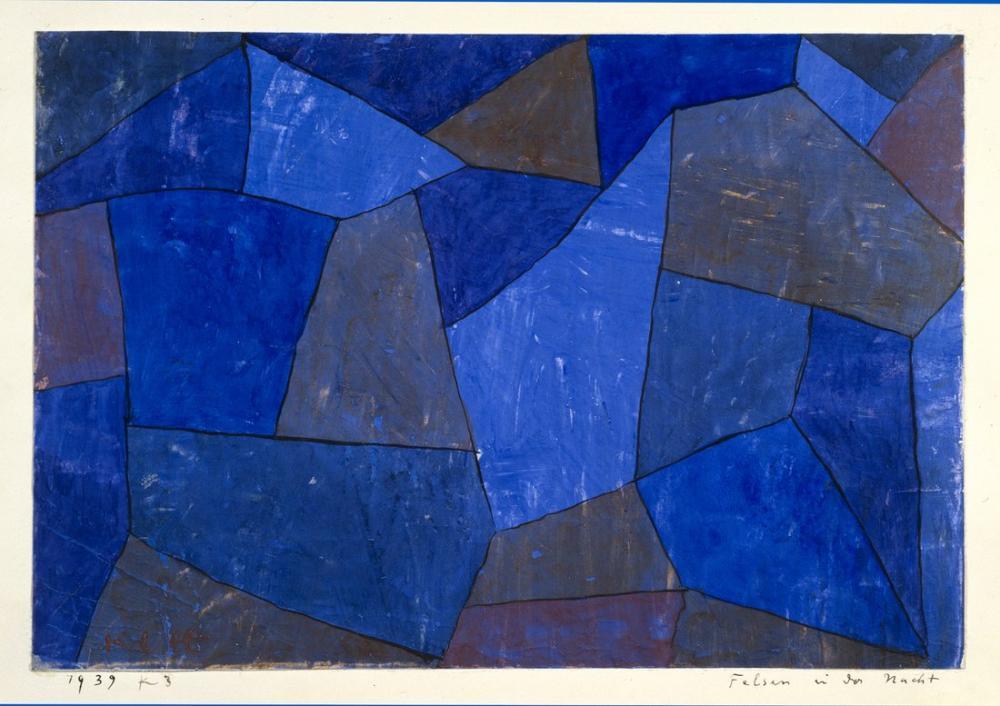 Paul Klee Gece Kayalar, Kanvas Tablo, Paul Klee, kanvas tablo, canvas print sales
