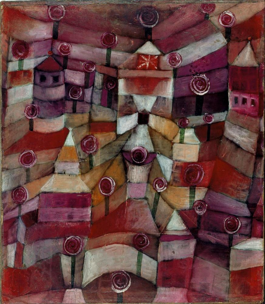 Paul Klee Gül Bahçesi, Kanvas Tablo, Paul Klee, PK278