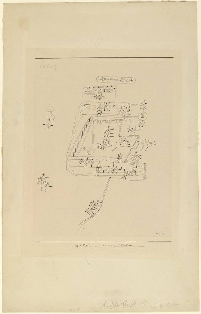 Paul Klee Scene Of An African Village, Canvas, Paul Klee, kanvas tablo, canvas print sales