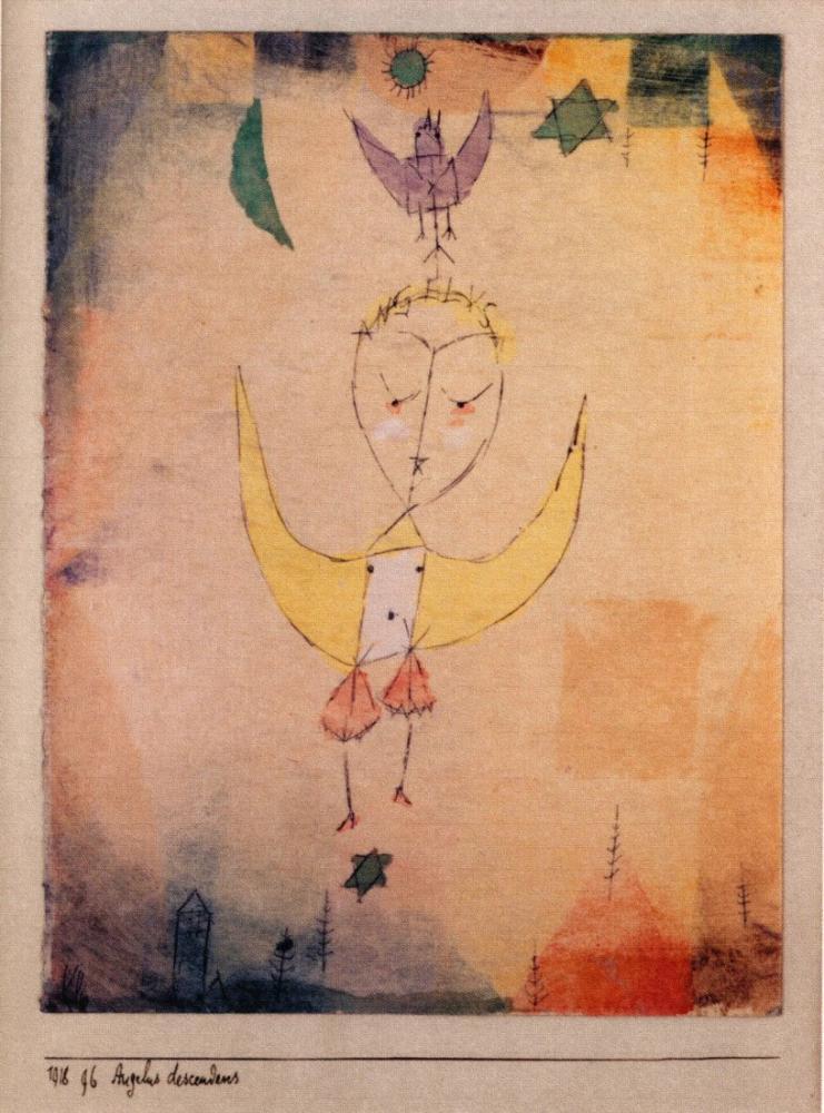 Paul Klee Angelus Descendens, Figure, Paul Klee, kanvas tablo, canvas print sales