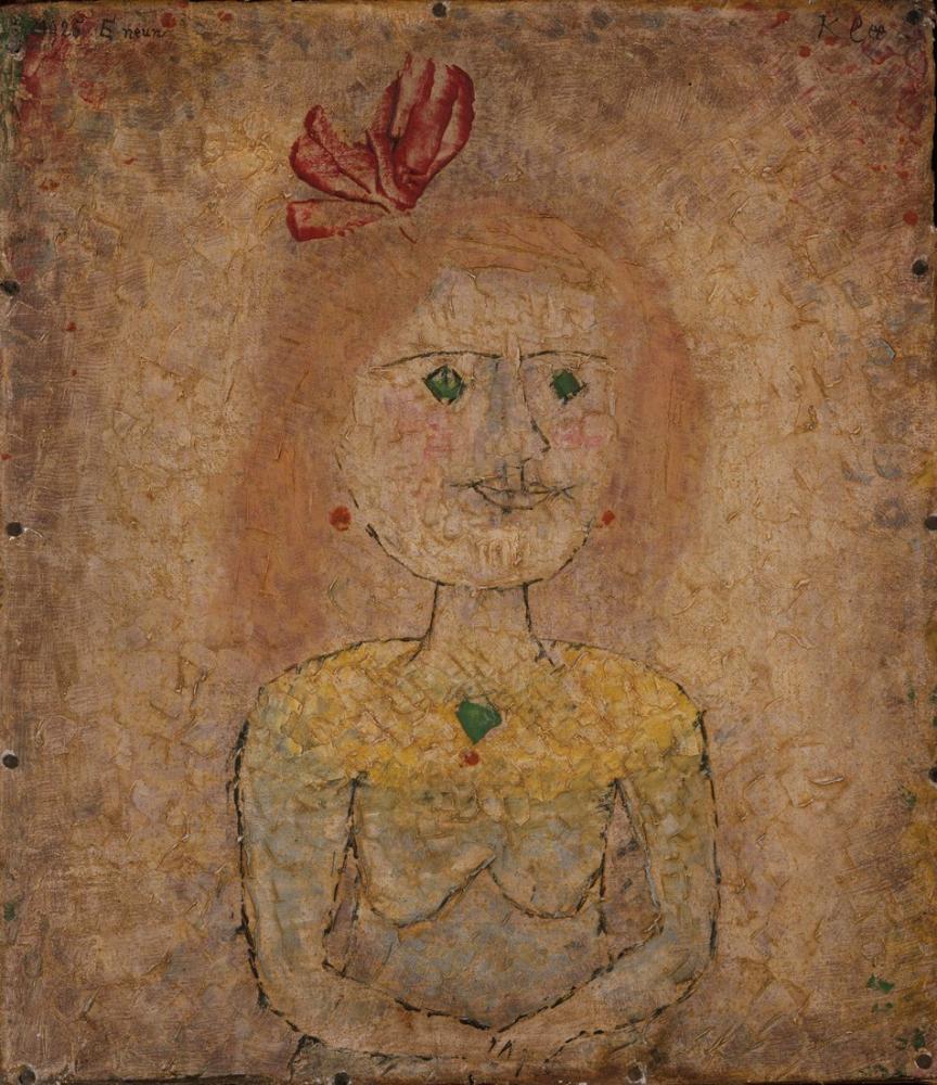 Paul Klee Small Portrait Of A Girl In Yellow, Figure, Paul Klee, PK300