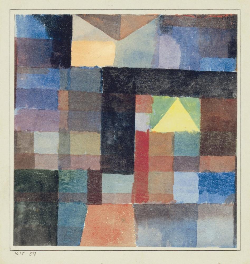 Paul Klee Uzay Mimarisi, Kanvas Tablo, Paul Klee, kanvas tablo, canvas print sales