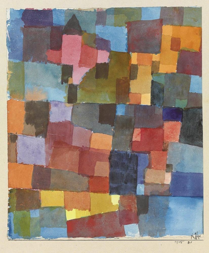 Paul Klee Space Architecture II, Canvas, Paul Klee, kanvas tablo, canvas print sales