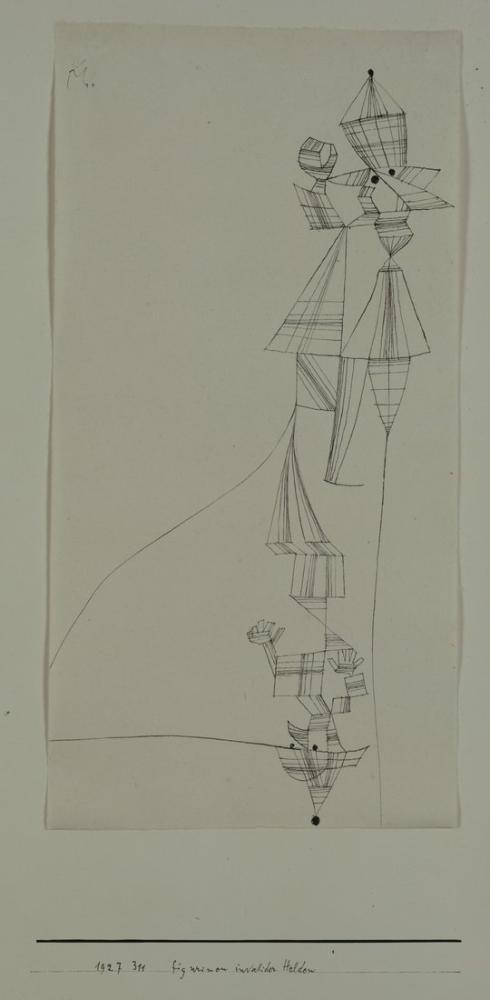Paul Klee Statuettes Of Disabled War Heroes, Canvas, Paul Klee, kanvas tablo, canvas print sales
