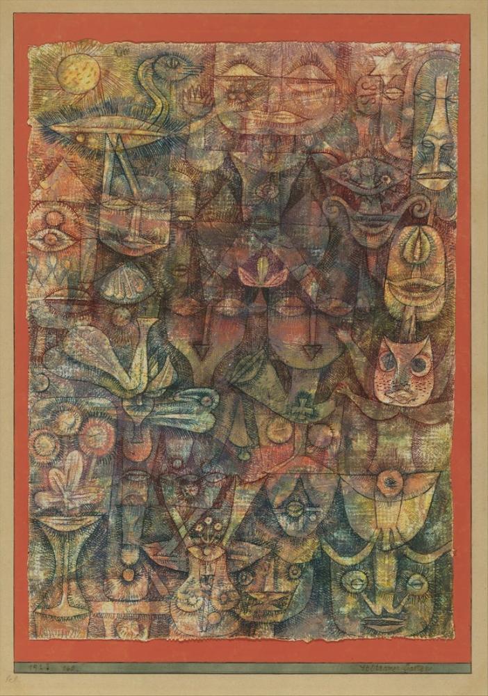 Paul Klee Garip Bahçe, Figür, Paul Klee, kanvas tablo, canvas print sales