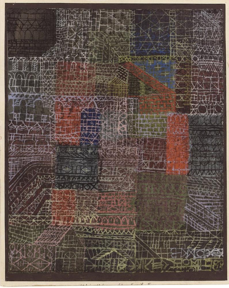 Paul Klee Yapısal II, Kanvas Tablo, Paul Klee, kanvas tablo, canvas print sales