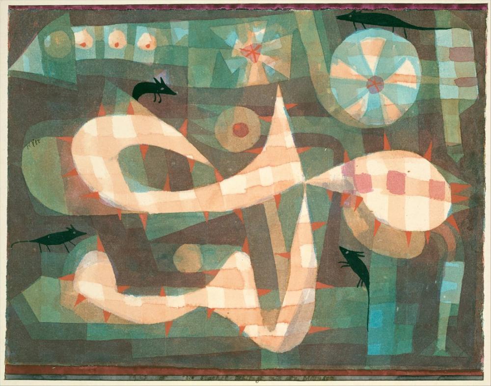 Paul Klee The Barbed Noose Sith The Mice, Canvas, Paul Klee, kanvas tablo, canvas print sales