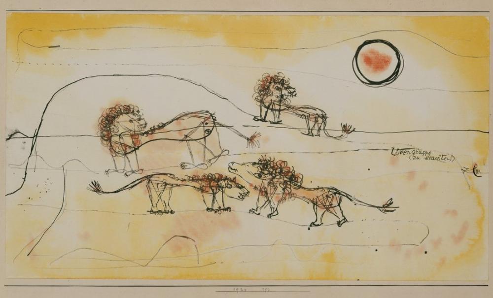Paul Klee A Pride Of Lions, Canvas, Paul Klee, kanvas tablo, canvas print sales
