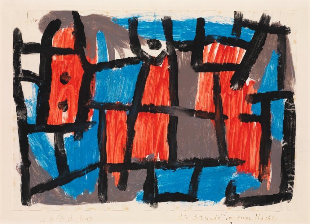 Paul Klee Bir Geceden Önce Bir Saat, Kanvas Tablo, Paul Klee, kanvas tablo, canvas print sales
