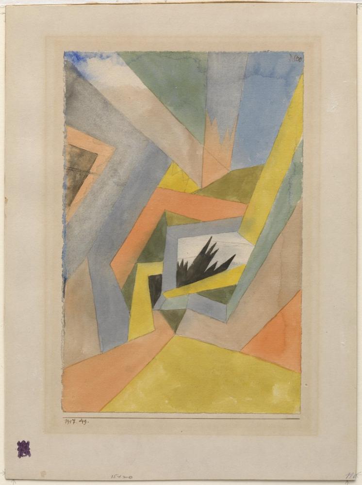 Paul Klee Köknar Fikri, Kanvas Tablo, Paul Klee, kanvas tablo, canvas print sales
