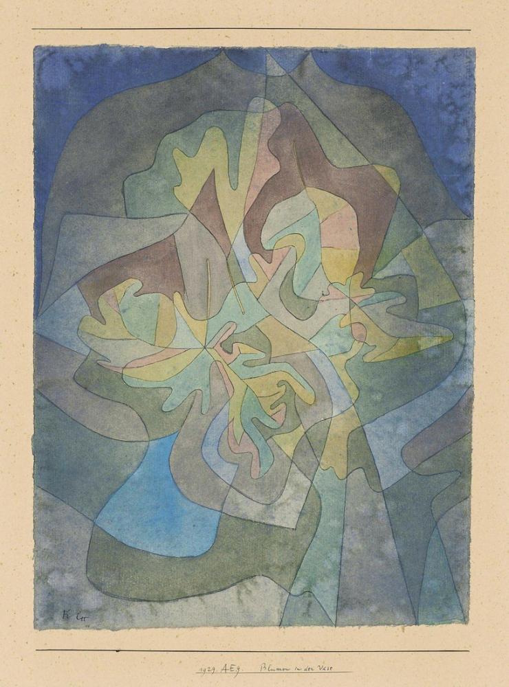 Paul Klee Vazo, Kanvas Tablo, Paul Klee, kanvas tablo, canvas print sales