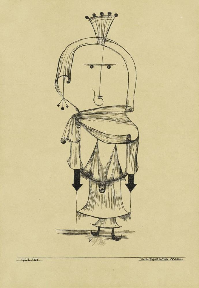 Paul Klee Taraklı Cadı, Figür, Paul Klee, kanvas tablo, canvas print sales