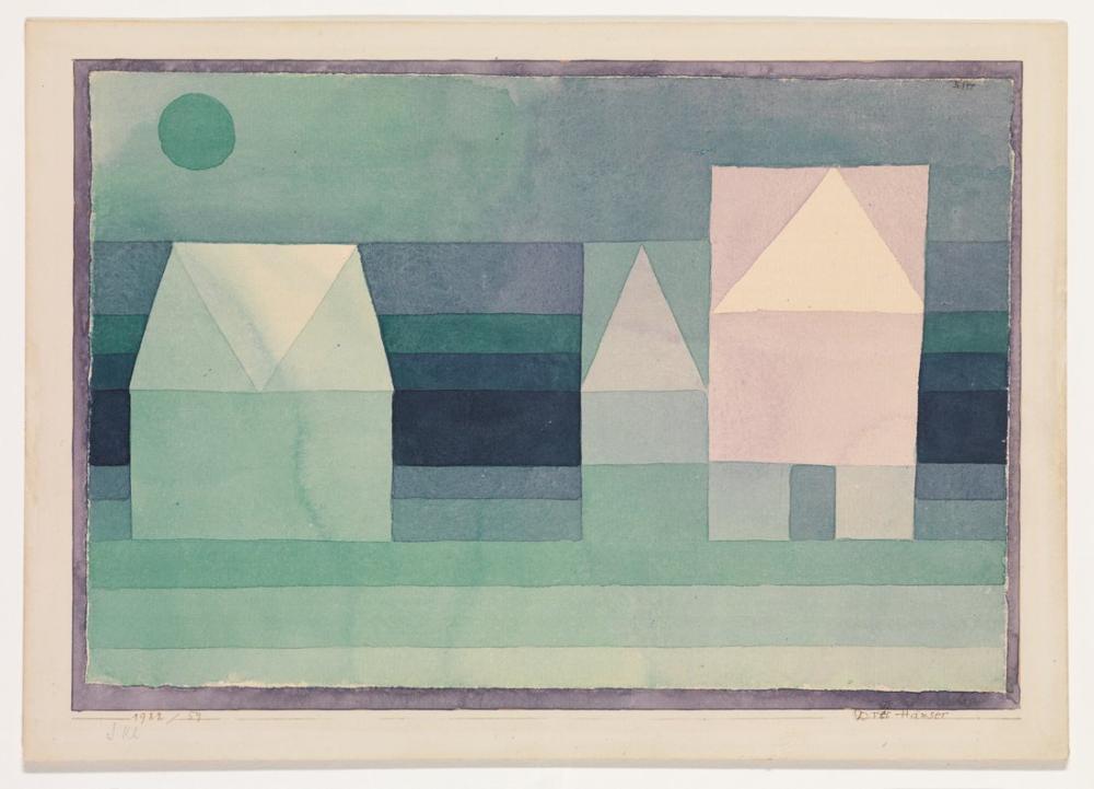 Paul Klee Three Houses, Canvas, Paul Klee, kanvas tablo, canvas print sales