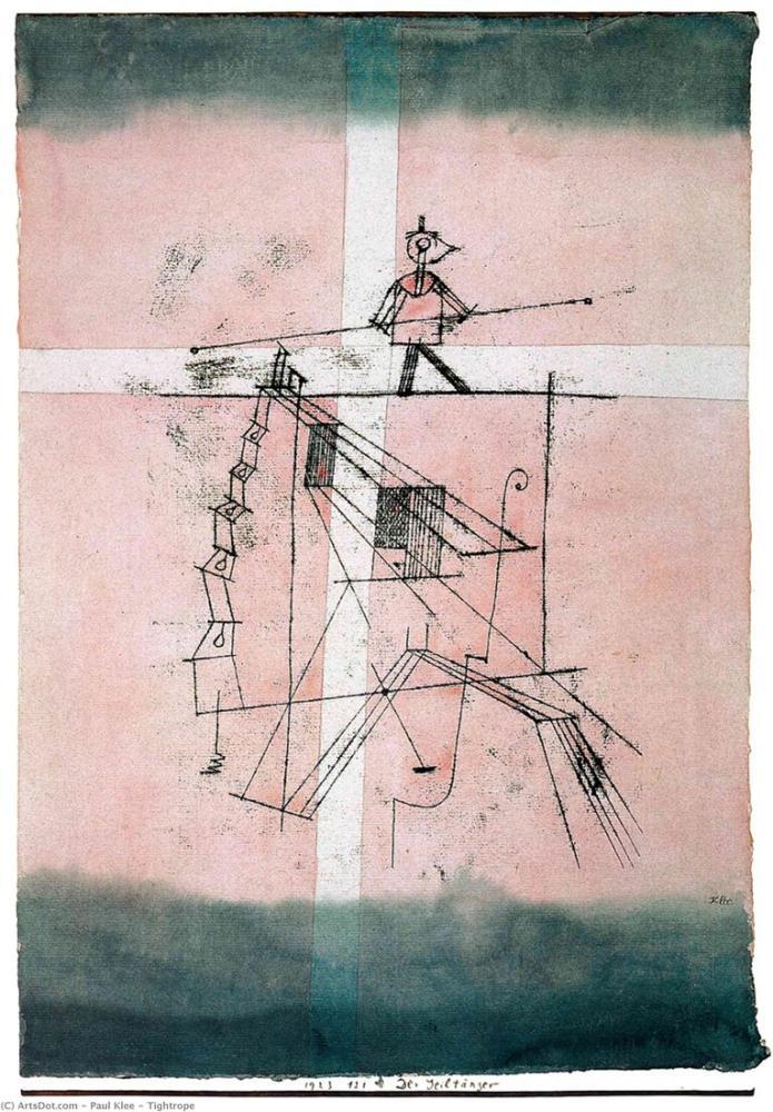 Paul Klee Cambaz, Figür, Paul Klee, kanvas tablo, canvas print sales