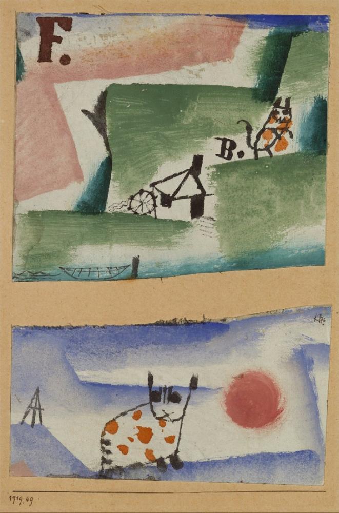 Paul Klee Tomcats Çim, Figür, Paul Klee, PK383