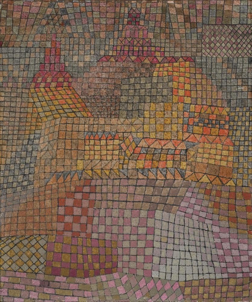 Paul Klee Town Castle, Canvas, Paul Klee, PK385