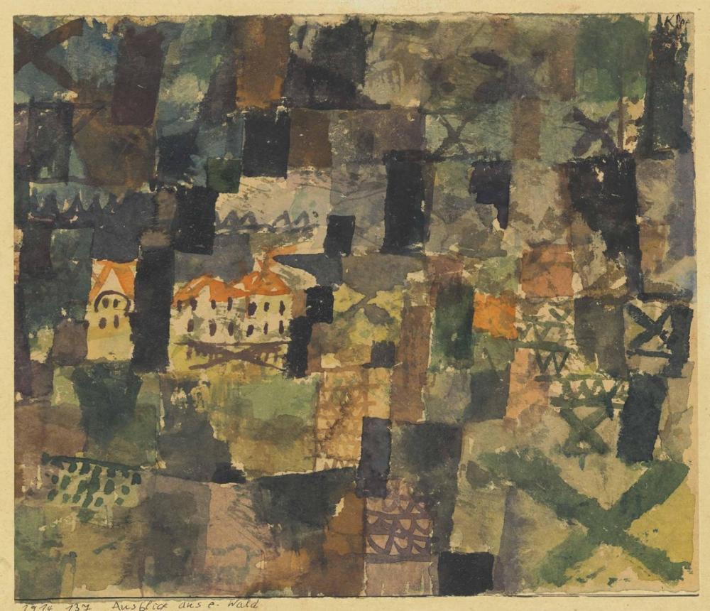 Paul Klee Ormandan Görünüm, Kanvas Tablo, Paul Klee, PK410