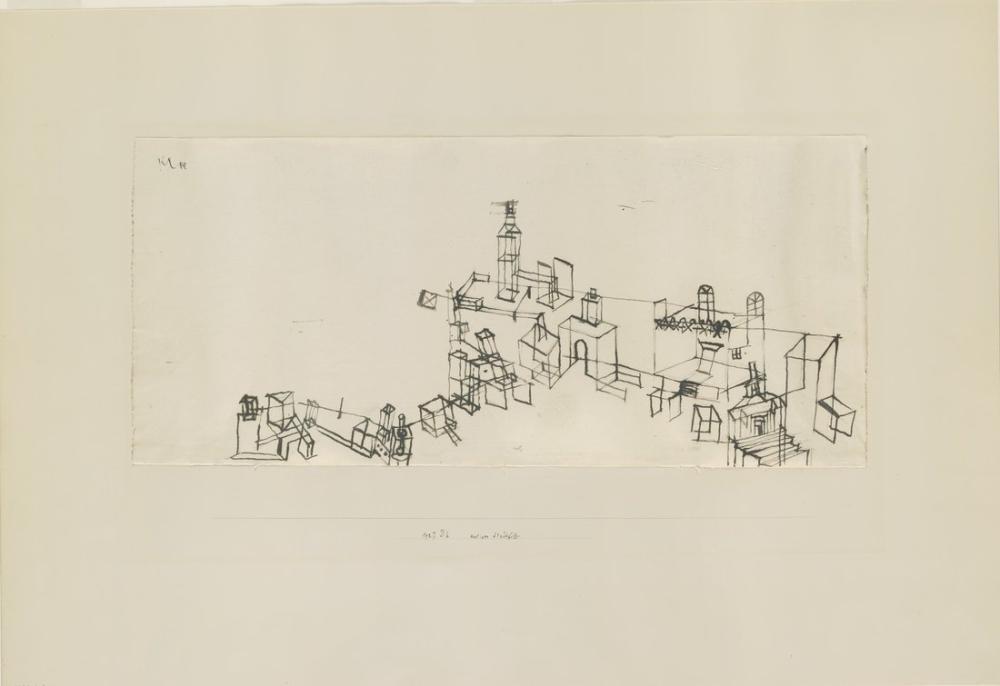 Paul Klee Antik Kentin Görünümü, Kanvas Tablo, Paul Klee, kanvas tablo, canvas print sales