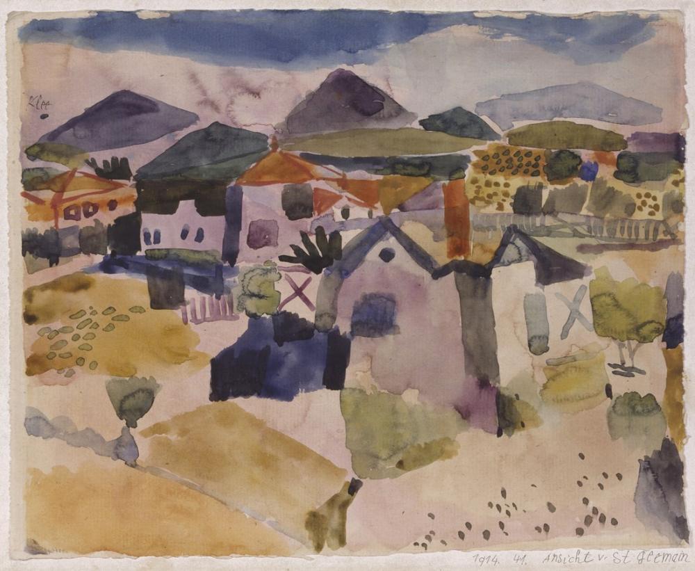 Paul Klee Saint Germain Görünümünü, Kanvas Tablo, Paul Klee, kanvas tablo, canvas print sales