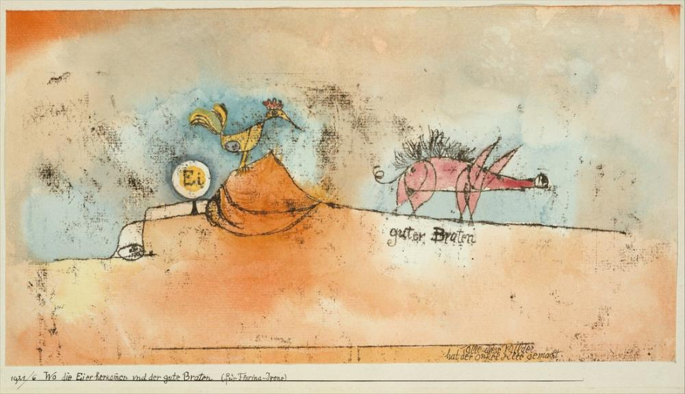 Paul Klee Where The Eggs and The Good Roast Come From, Figure, Paul Klee, kanvas tablo, canvas print sales