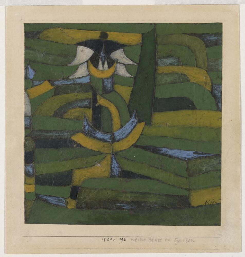 Paul Klee Bahçede Beyaz Çiçek, Kanvas Tablo, Paul Klee, kanvas tablo, canvas print sales