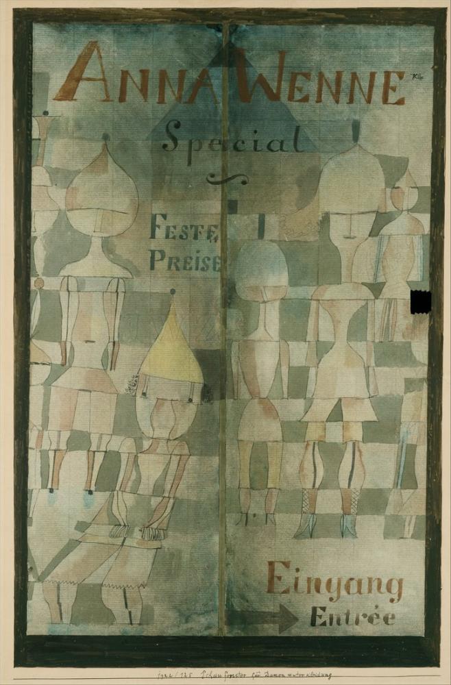 Paul Klee Window Display For Lingerie, Figure, Paul Klee, kanvas tablo, canvas print sales