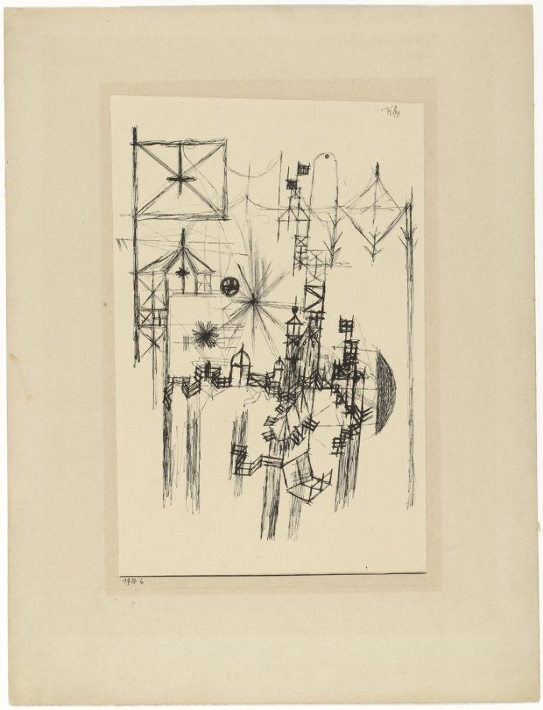 Paul Klee With The Flag, Canvas, Paul Klee, kanvas tablo, canvas print sales