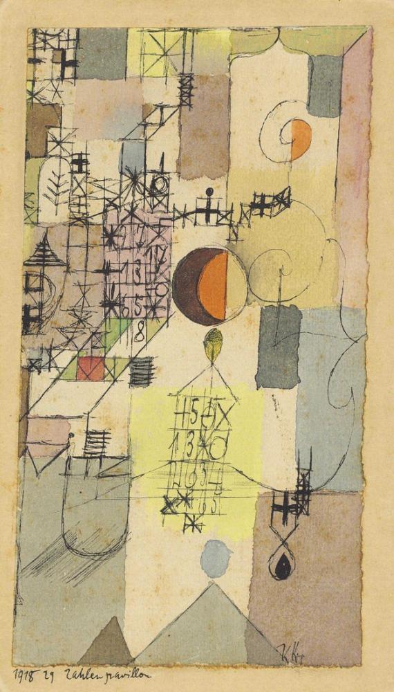 Paul Klee Zahlenpavillon, Kanvas Tablo, Paul Klee, kanvas tablo, canvas print sales