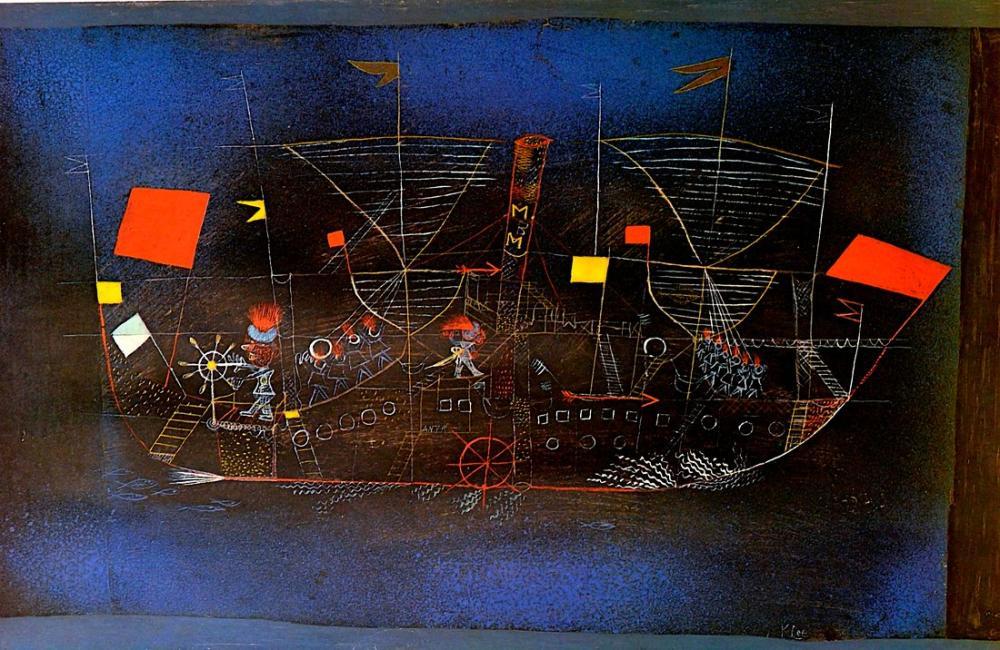 Paul Klee Adventurer Ship, Figure, Paul Klee, kanvas tablo, canvas print sales