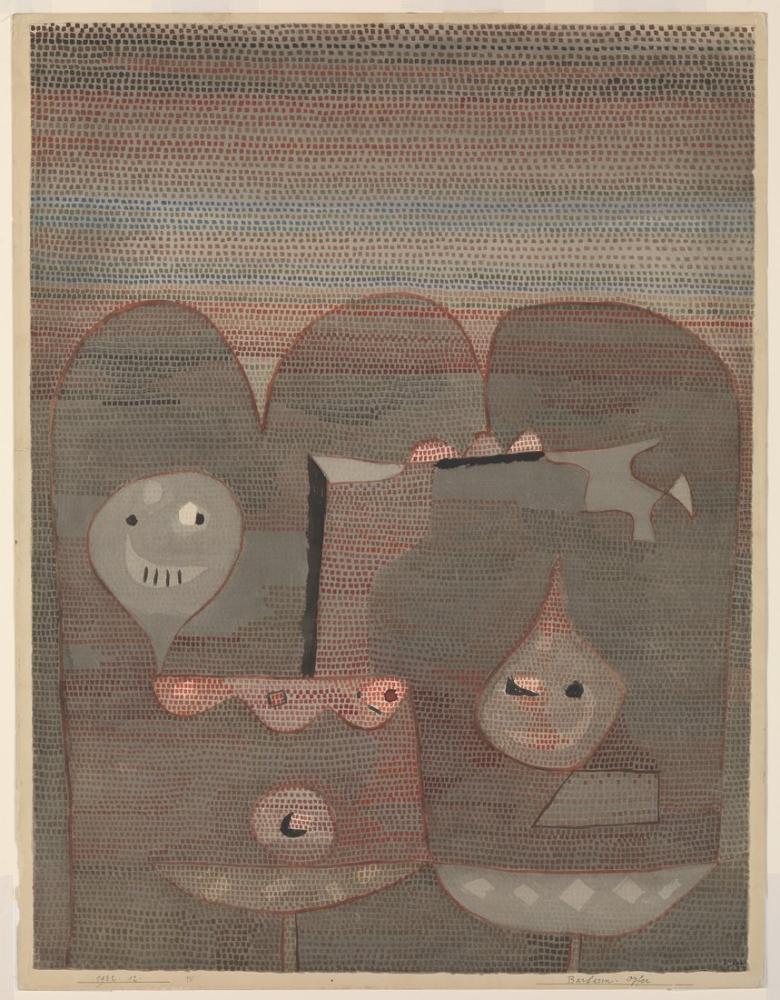 Paul Klee Barbar Kurban, Kanvas Tablo, Paul Klee, kanvas tablo, canvas print sales