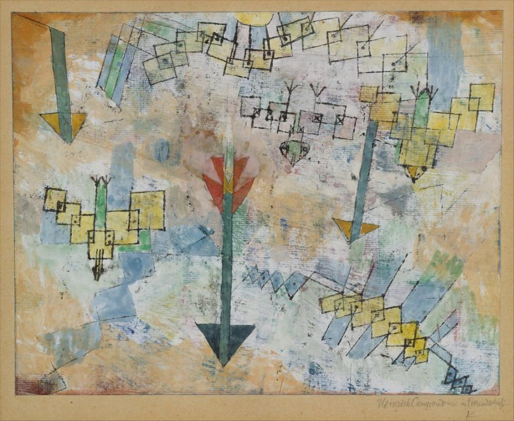 Paul Klee Aşağı Saldırıya Geçti Kuşlar ve Oklar, Kanvas Tablo, Paul Klee, kanvas tablo, canvas print sales