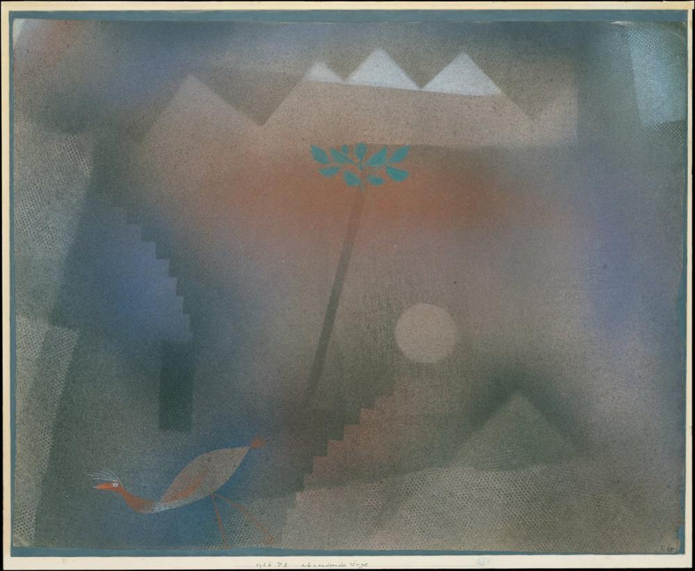 Paul Klee Kuş Dolaşıyor, Kanvas Tablo, Paul Klee, kanvas tablo, canvas print sales
