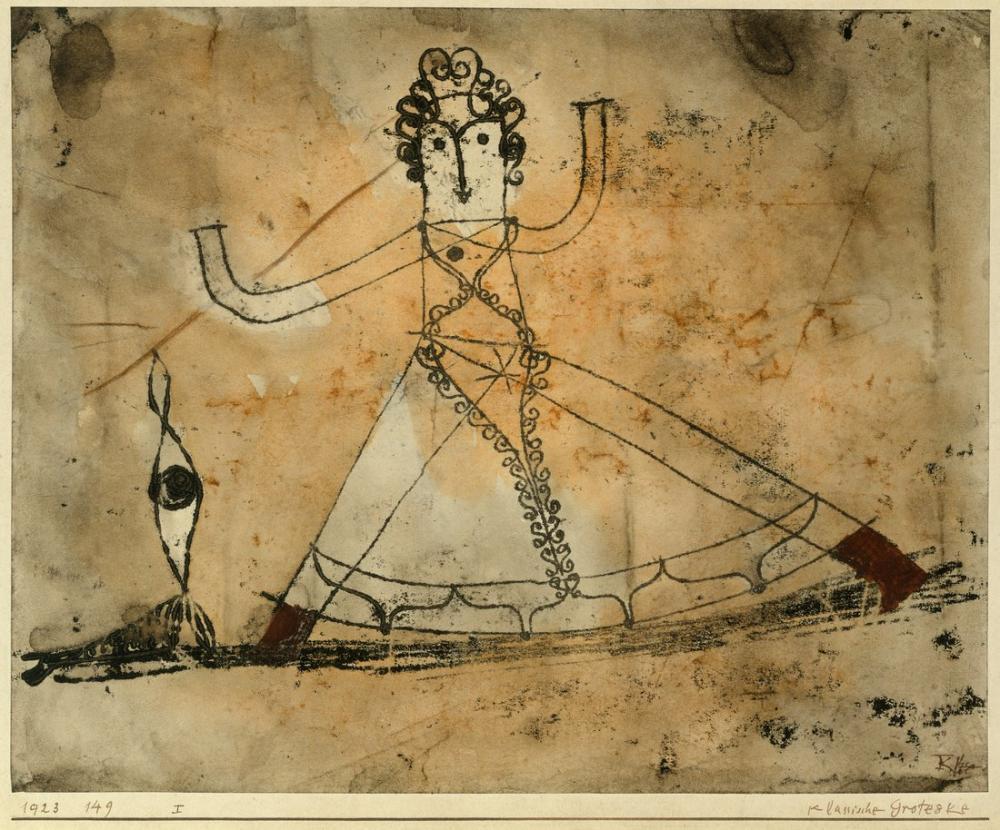 Paul Klee Classical Grotesque, Figure, Paul Klee, kanvas tablo, canvas print sales