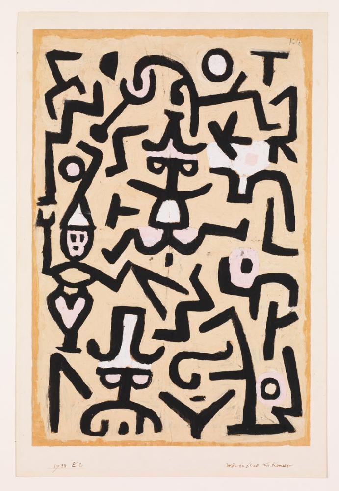 Paul Klee Comedians Handbill, Canvas, Paul Klee, kanvas tablo, canvas print sales