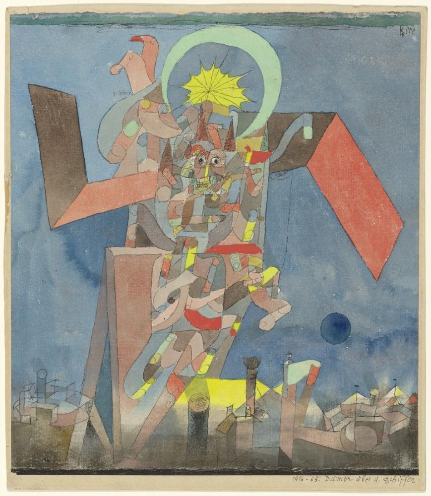 Paul Klee Gemilerin Üstünde Şeytan, Kanvas Tablo, Paul Klee, kanvas tablo, canvas print sales