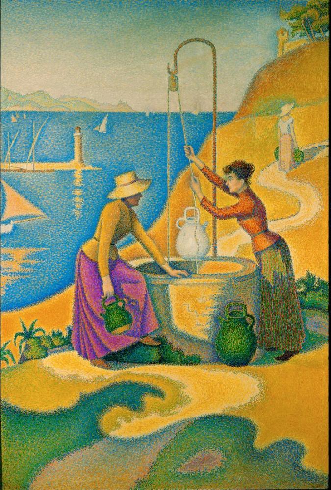 Paul Signac Women At The Lossless Well, Canvas, Paul Signac, kanvas tablo, canvas print sales