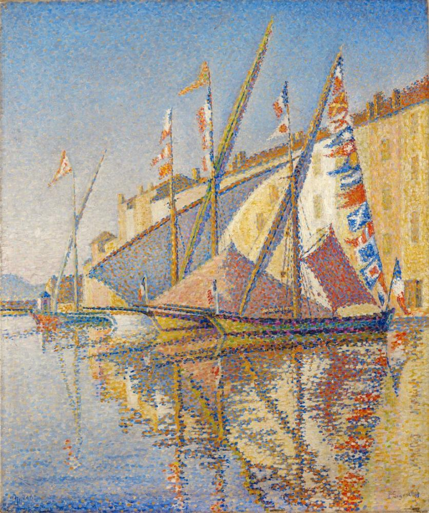 Paul Signac Bayraklı Tartanlar, Kanvas Tablo, Paul Signac, kanvas tablo, canvas print sales