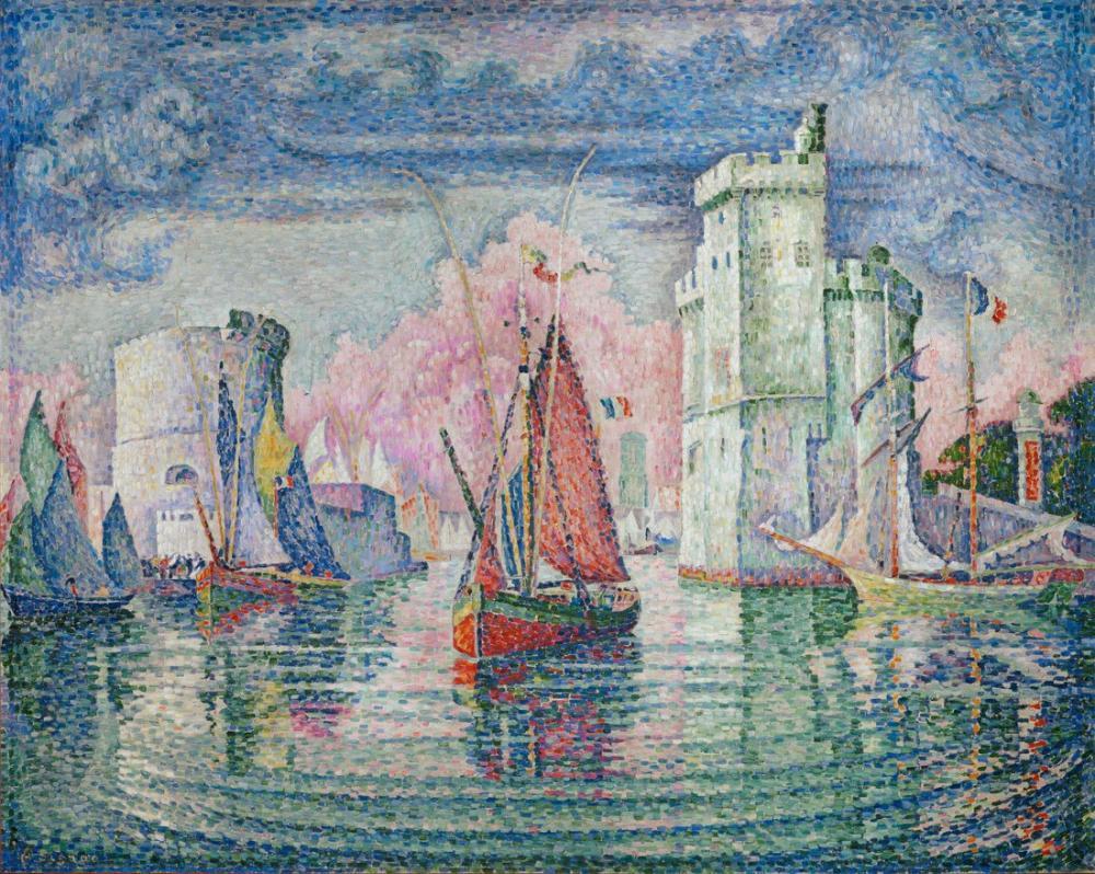 Paul Signac La Rochelle Limanına Giriş, Kanvas Tablo, Paul Signac, kanvas tablo, canvas print sales
